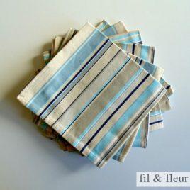 serviettes table bayadere