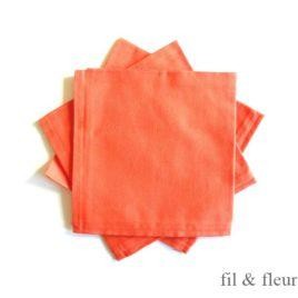 Serviettes de table orange