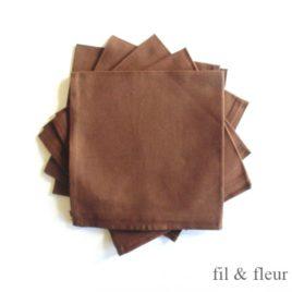Serviettes de table marron