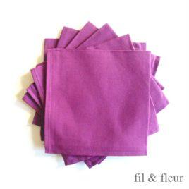 serviettes table mauve
