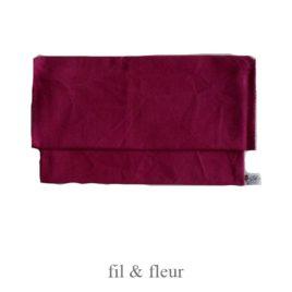 pochette serviette pourpre