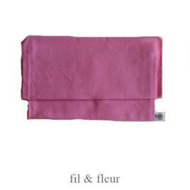 pochette serviette rose clair