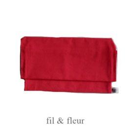 pochette serviette rouge orange