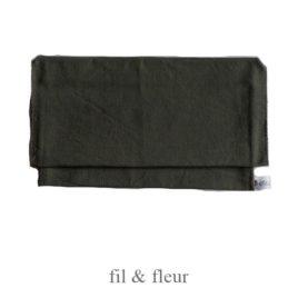 pochette serviette vert kaki