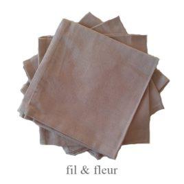 serviettes table beige