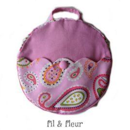 sac à dos enfant rose cachemire