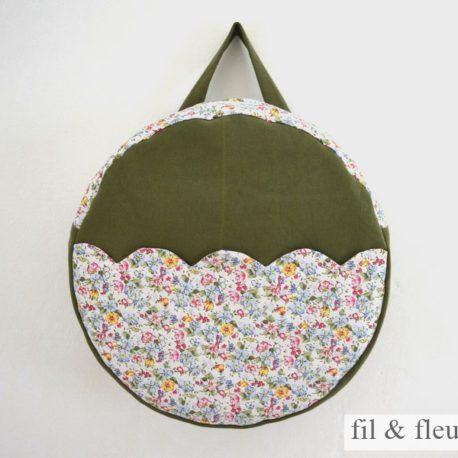 sac kaki petites fleurs