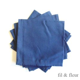 Serviettes de table bleu marine