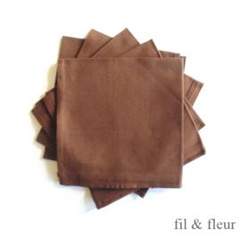 Serviettes de table marron