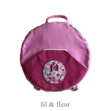 sac rose pourpre smiley