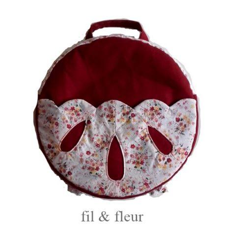 sac rouge fonce poche gouttes