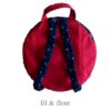 sac rouge bleu ancre