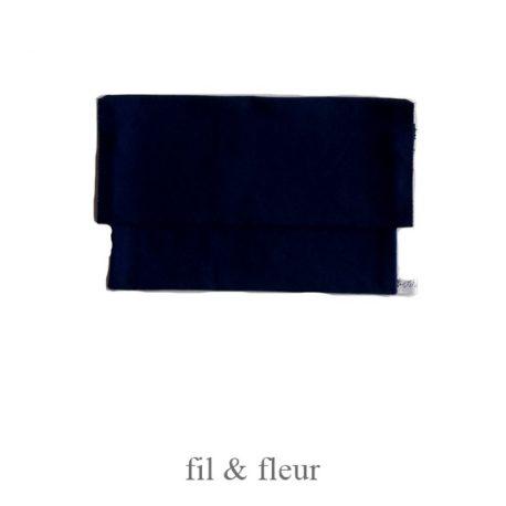 pochette serviette bleu marine