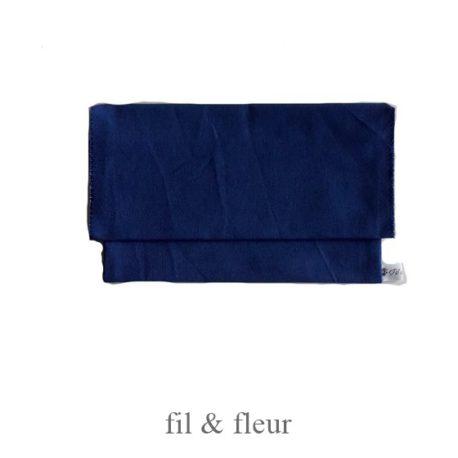 pochette serviette bleu roi