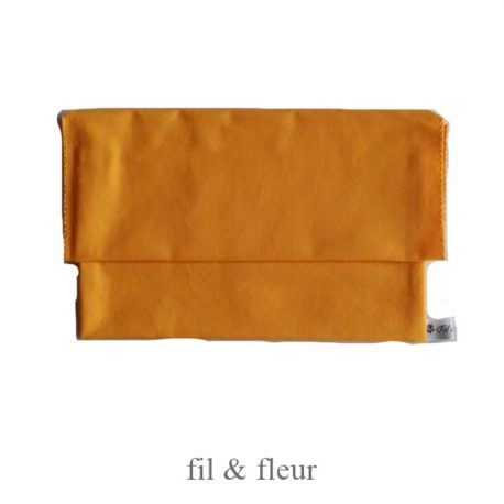 pochette serviette jaune