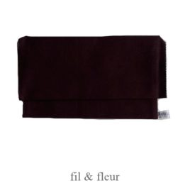 pochette serviette marron