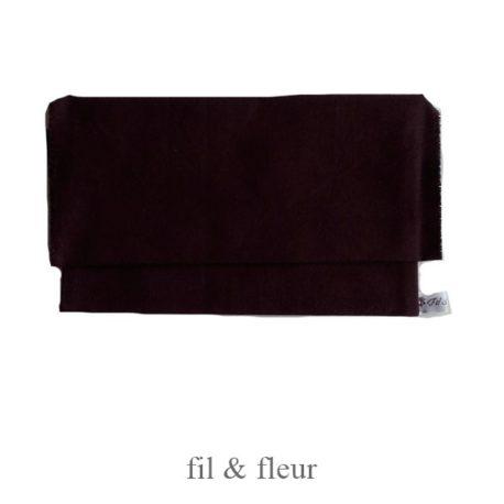pochette serviette marron