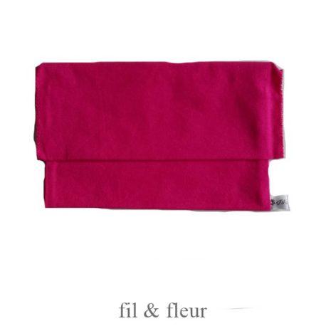 pochette serviette rose fuchsia