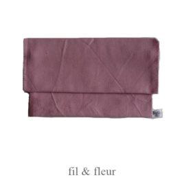 pochette serviette rose poudre