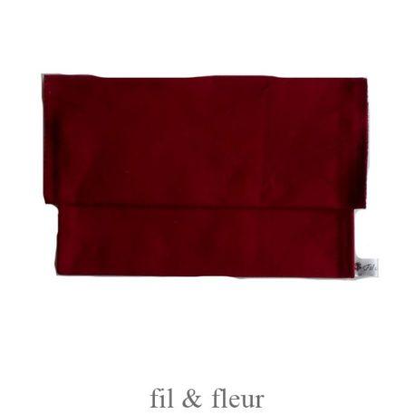 pochette serviette rouge fonce