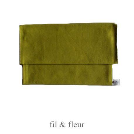 pochette serviette vert printemps