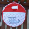 sac a dos enfant rouge orange avec helicoptere