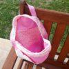 sac a dos enfant rose avec des plamiers