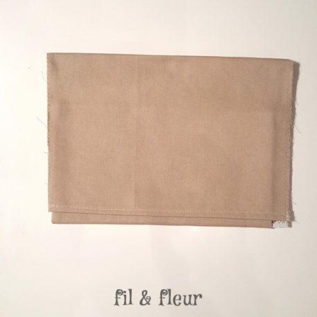 pochette serviette beige