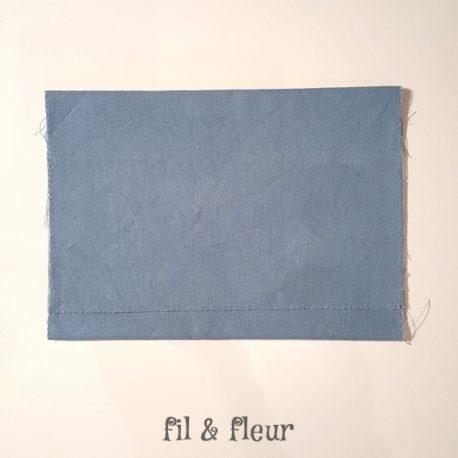 pochette serviette bleu gris