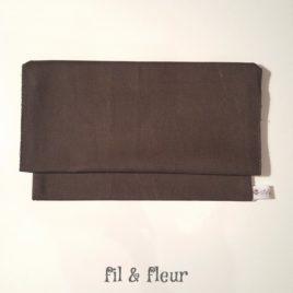 pochette serviette gris anthracite