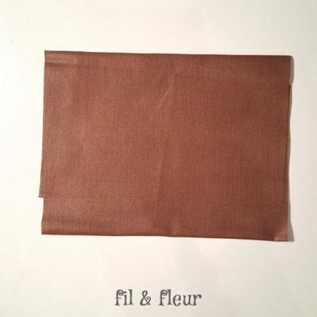 pochette serviette lin enduit chocolat