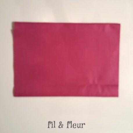 pochette serviette lin enduit violet pourpre