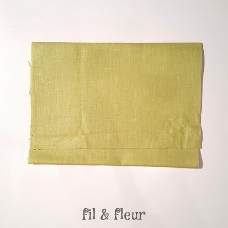 pochette serviette lin enduit vert anis