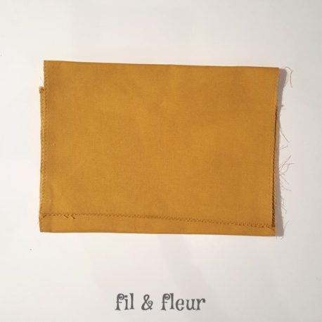 pochette serviette moutarde